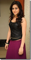 aksha in black dress