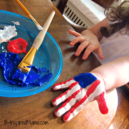 Patriotic Hand Print Craft 3