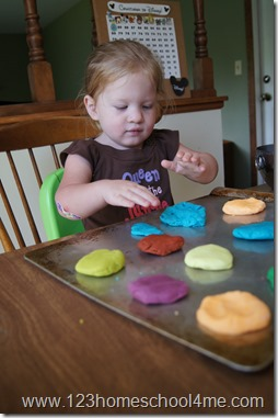 Making play doh cookies