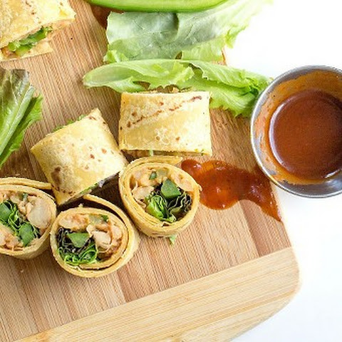 Smashed Barbecue Chickpea Rollups