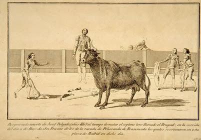 1801 Muerte en el ruedo del torero Pepe Hillo