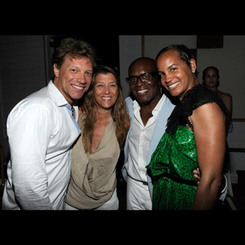 Jon Bon Jovi, Dorothea Bon Jovi, L.A. Reid and Erica Reid attend 2011 Apollo in the Hamptons
