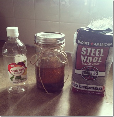 Make your own vintage wood stain with ingredients you already have!
