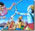 Rama battling Tataka
