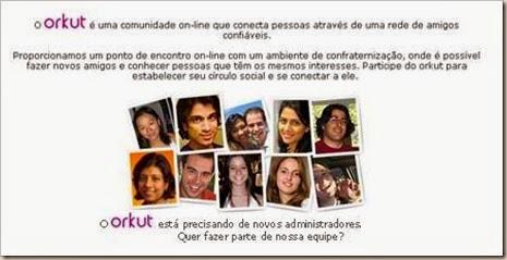 Orkut Login Antigo