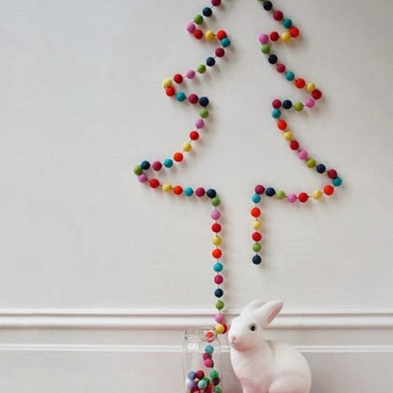 Cách trang trí cây thông Noel trên tường mùa giáng sinh