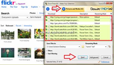 การดาวน์โหลดรูปภาพและวีดีโอด้วยเวบบราวเซอร์ Firefox