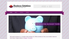 Business solutions purple blogger template 225x128
