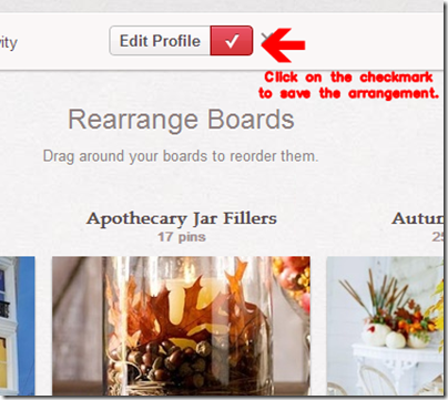 How to Rearrange Pinterest Boards from Setting for Four #tutorial #blog #tip #trick #pinterest