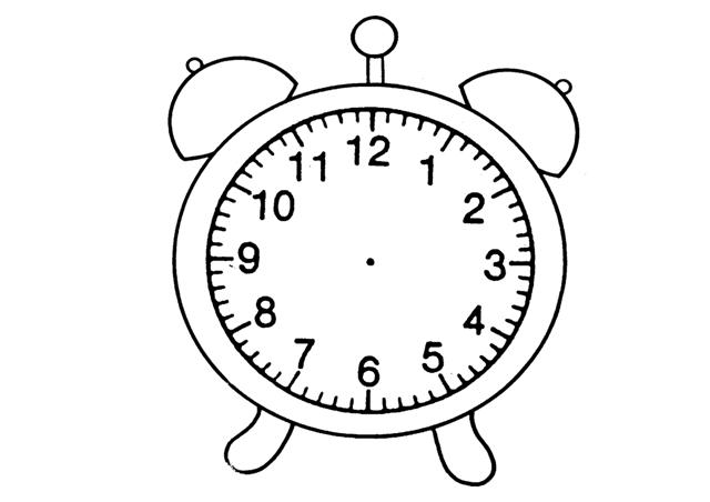 Colorear reloj despertador - Dibujos de relojes para imprimir ...