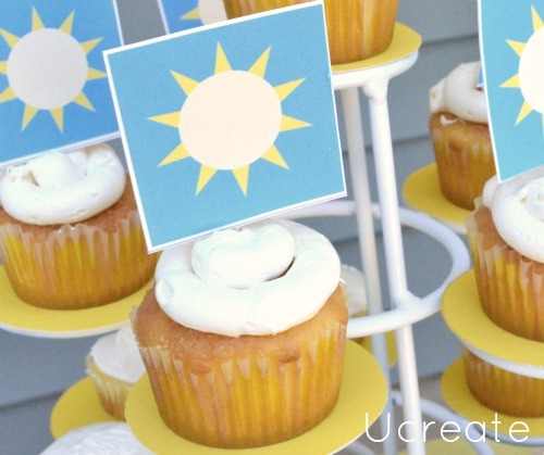 free printable sunshine cupcake toppers