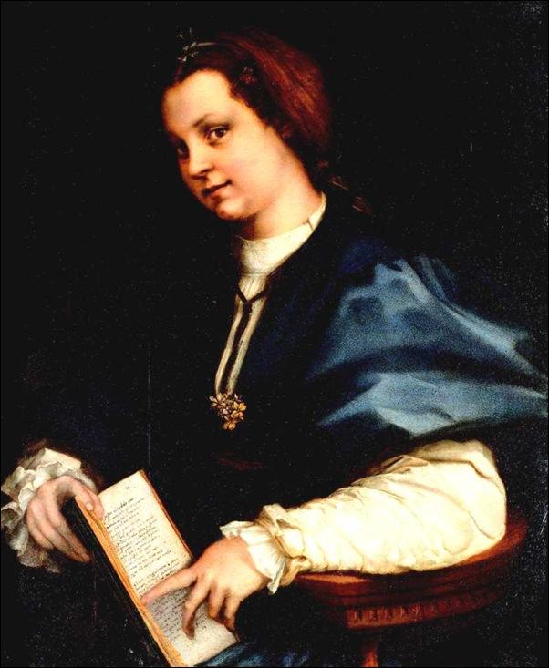 Andrea Del Sarto, Jeune fille lisant Pétrarque