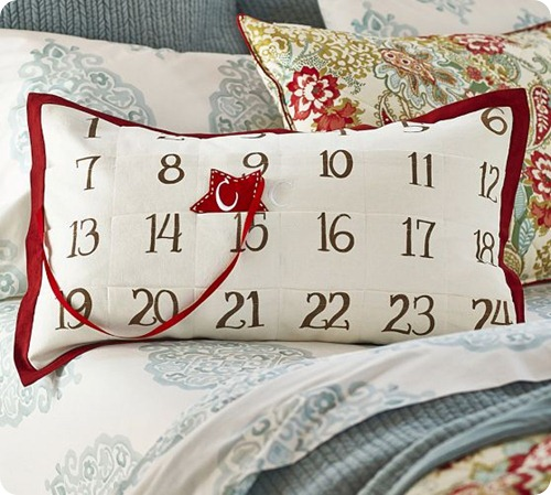 pottery barn advent pillow
