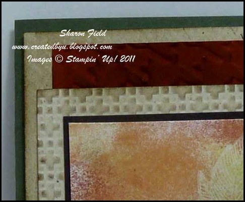 4.embossed texture on fall sponged card