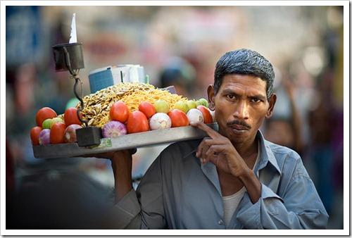 Bhelpuri seller