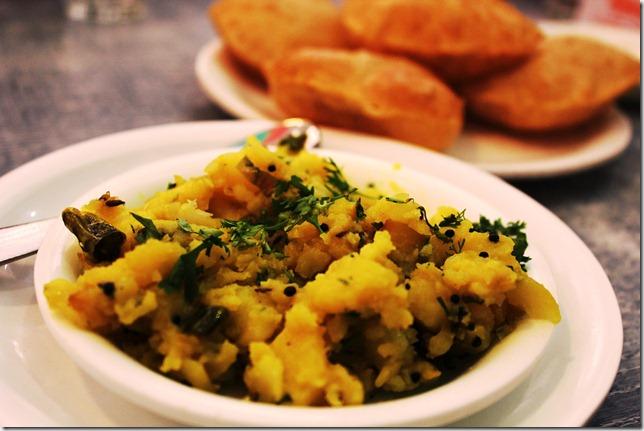 the potato bhaaji