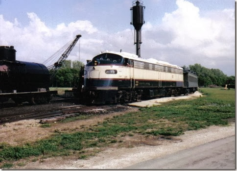 Burlington Northern E9AM BN-3 at the Illinois Railway Museum on May 23, 2004