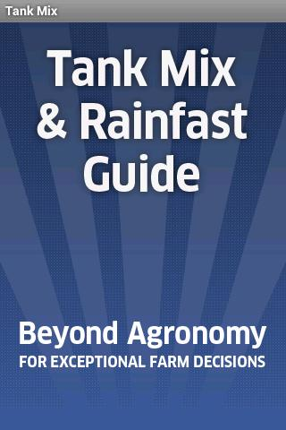 Tank Mix Rainfast Guide