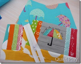 Umbrella zip pouch supplies