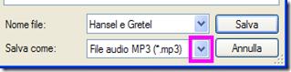 Salvataggio file audio Balabolka