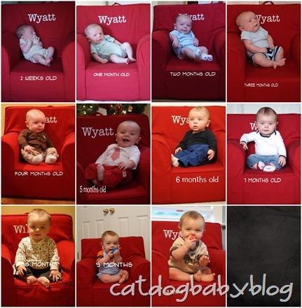 wyatt monthly pics