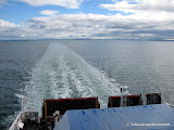 Leaving Melbourne on the ferry