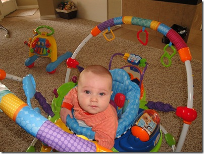 1.  Knox in exersaucer