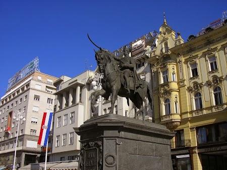 Europa Centrala: Statuia banului Jelacic Zagreb