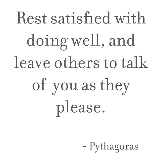 rest satisfied -- pythagoras
