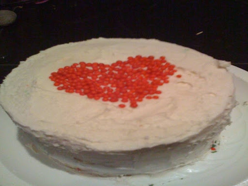 If you are making fewer than six or seven layers the cake will hold together better if you stack the layers vertically (like an ordinary cake).