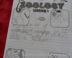 Apologia Junior Journal writing page