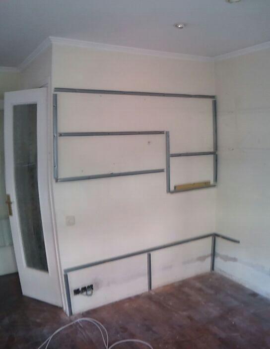 Pladur barcelona mueble para televisi n - Muebles de pladur para salon ...