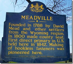 Meadville marker location in Meadville, PA - Crawford County (Click any photo to enlarge)