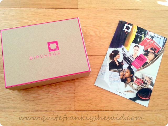 Birchbox February Beauty Box