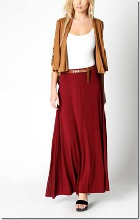 Belted Jersey Maxi Skirt1