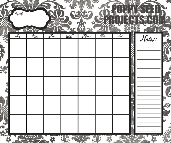 Super-Saturday-Ideas-Dry-Erase-Calendars-black-damask