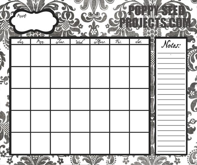 Super-Saturday-Ideas-Dry-Erase-Calendars-black-damask