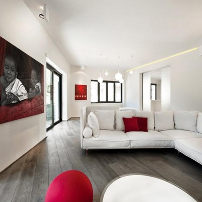 Baño Minimalista Rojo:Decoración minimalista combinando el rojo y blanco – iDecorar