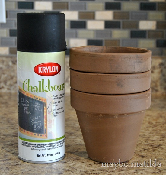 How to make chalkboard flower pots