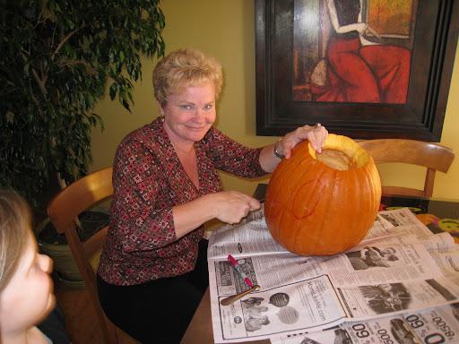 Nagi's free form pumpkin carving.