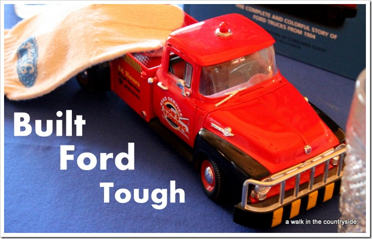 truck as centerpiece on Ford table