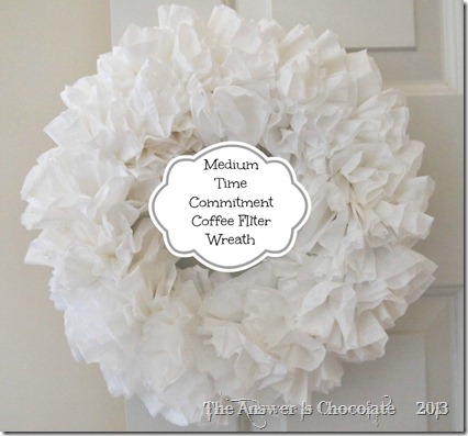 Medium Time Coffee Filter Wreath