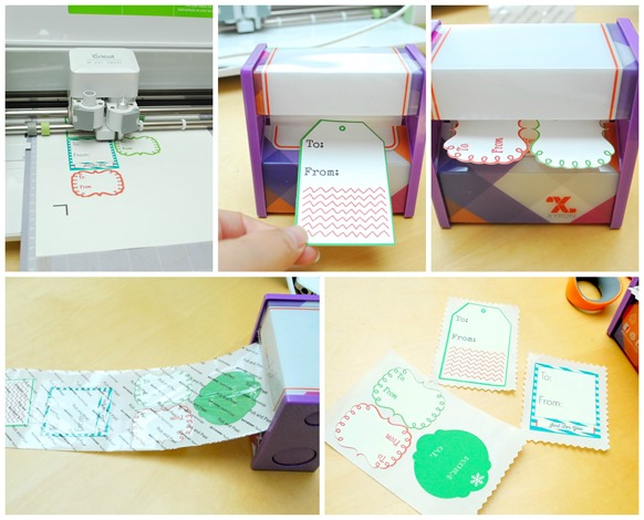 Cricut Print Then Cut and Xyron Holiday Sticky Labels - The Silly Pearl