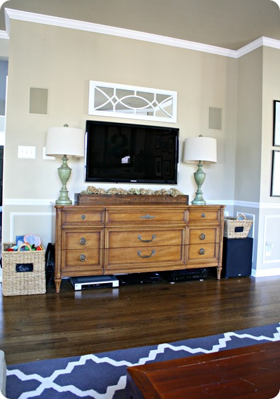 dresser as entertainment center