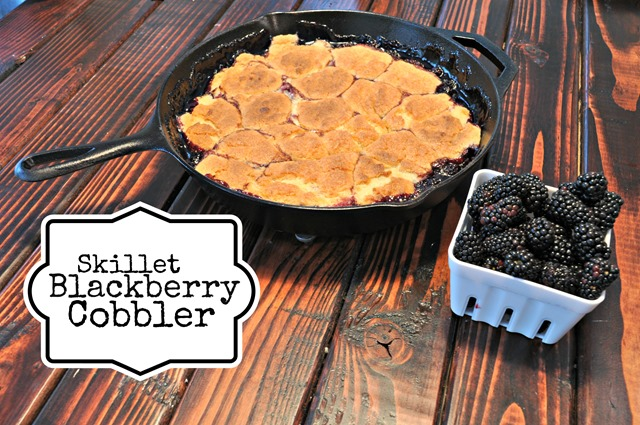 Skillet Blackberry Cobbler from Decor and the Dog