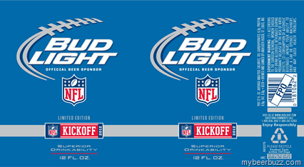 Bud Light Limited Edition Nfl Kickoff 2012 Cans Updated
