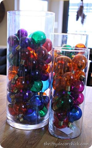 colorful christmas bulbs