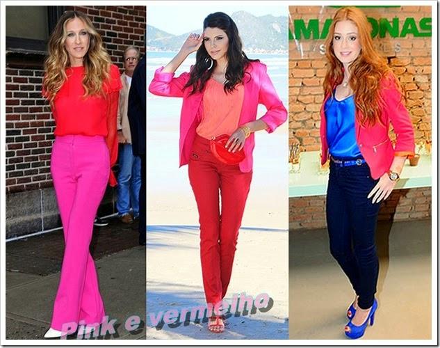 Moda vermelho e pink