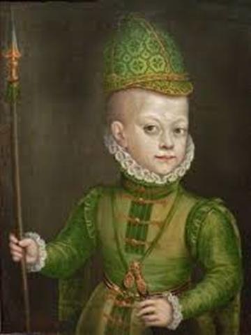 Felipe III. Hijo de Ana y Felipe II, a la edad de 2 años.