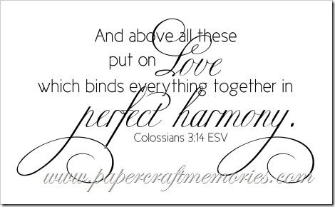 Colossians 3:14 ESV for personal use